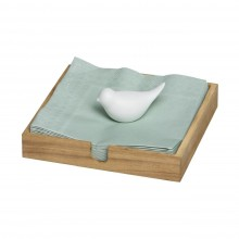 Bird Napkin Holder (Wood / Porcelain) - Raeder