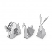 Origami Ring Holder Set of 3 (Chrome) - Umbra