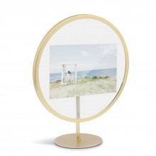 INFINITY Photo Frame 10 x 15 cm. (Matte Brass) - Umbra