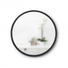 Hub Wall Mirror 18 Inch (Black) - Umbra