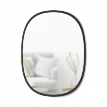 Hub Wall Mirror Oval 61 x 46 cm (Black) - Umbra