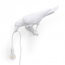 Bird Looking Left Lamp (White) - Seletti