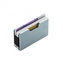 COOPER Cardholder with Money Clip (Silver) - Philippi