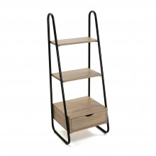 3-Tier Wooden Storage Rack (Black / Natural) - Versa