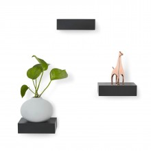 Showcase Shelves Set of 3 (Black) - Umbra