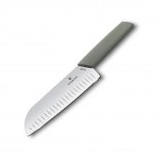 Swiss Modern Santoku Knife 17 cm. (Green) - Victorinox