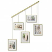 Εxhibit Multi Wall Photo Display (Mat Brass) - Umbra