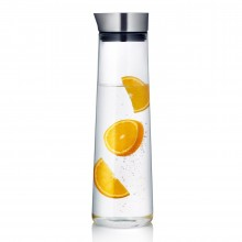 ACQUA Water Carafe 1.5L (Clear / Steel) - Blomus