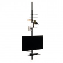 Adelaide TV Stand / Shelving Unit (Metal / Black) - Mogg