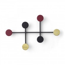 Afteroom Coat Hanger (Black / Brass) - Menu