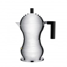 Pulcina Espresso Coffee Maker 3 Cups (Black) - Alessi