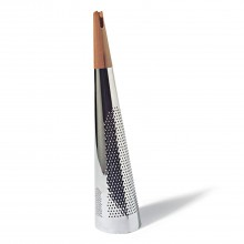 Todo Giant Cheese & Nutmeg Grater (Steel / Wood) - Alessi