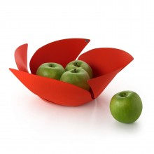 Twist Again Fruit Holder with Relief Decoration (Red) - Alessi