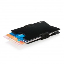 Aluminum RFID Anti-Skimming Minimalist Wallet (Black)