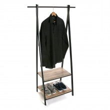 ALZ Coat Rack with Shelves (Metal / Wood) - Versa