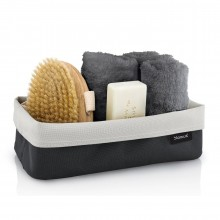ARA Reversible Storage Basket L (Sand / Anthracite) - Blomus