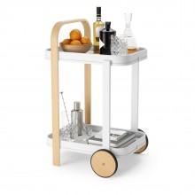 Bellwood Bar / Serving Cart (White / Natural) - Umbra