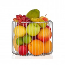 Estra Wire Basket / Fruit Bowl L (Stainless Steel) - Blomus