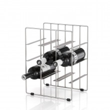 Pilare Wine Bottle Storage Unit for 9 bottles (Matt Steel) - Blomus