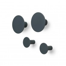Ponto Set of 4 Wall Hooks (Gunmetal) - Blomus