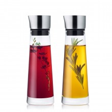 Alinjo Oil and Vinegar Set (Stainless Steel & Glass) - Blomus