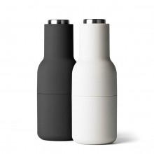 Bottle Grinder Salt & Pepper Mill Set (Ash / Carbon / Steel Lid) - Menu