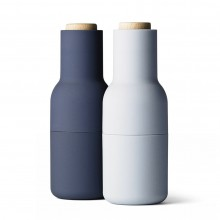 Bottle Grinder Salt & Pepper Mill Set (Classic Blue) - Menu