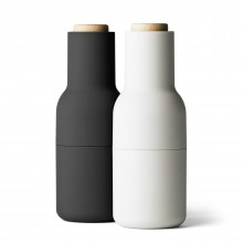 Bottle Grinder Salt & Pepper Mill Set (Ash / Carbon) - Menu