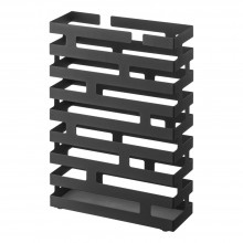 Brick Rectangular Umbrella Stand (Black Steel) - Yamazaki