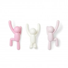 Buddy Hook Set of 3 (Pink Dual) - Umbra