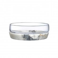 Chill Bowl With Marble Base M - Nude Glass