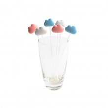 Cloud Stirrer Set of 6 (White / Pink / Blue) - Qualy
