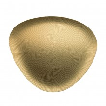 Colombina Small Tray with Relief Decoration (Brass) - Alessi