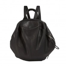 Moselle Alias Rucksack Cowhide Leather Agathe Black - Côte&Ciel