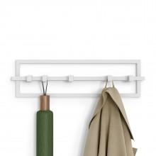 Cubiko 5 Hook Coat Rack (White) - Umbra
