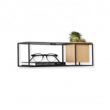 Cubist Small Wall Shelf (Black) - Umbra