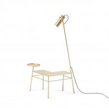 Dase Corner Coffee Table (Metal / Gold) - Mogg