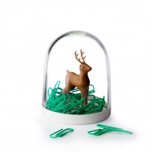 Deer in the Forest Paper Clips Holder - Qualy