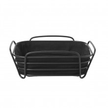 DELARA Bread Basket Large (Black) - Blomus