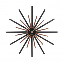 Diva Wall Clock (Black / Walnut) - Karlsson