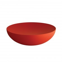 Double Bowl with Relief Decoration (Red) - Alessi