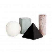 Drink Rocks Geometric Shapes Set of 4 (Multicolor)