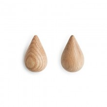Dropit Small Hook Set of 2 (Natural Wood) - Normann Copenhagen