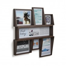 Edge Multi Wall Photo Display (Aged Walnut) - Umbra