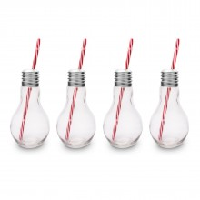 Edison Light Bulb Drinking Glasses 400ml (Pack of 4) - The Mixology Collection