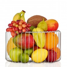 Estra Wire Basket / Fruit Bowl M (Stainless Steel) - Blomus
