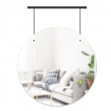 Exhibit Wall Mirror 24 Inch (Black) - Umbra