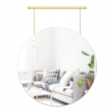 Exhibit Wall Mirror 24 Inch (Brass) - Umbra