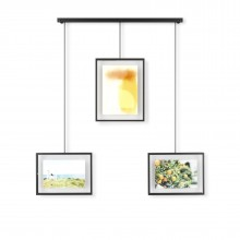 Exhibit Wall Photo Display Set of 3 (Black) - Umbra