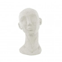 Face Art Up Large Statue (Ivory) - Present Time
